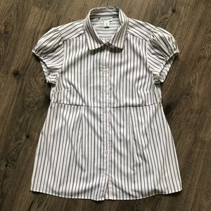 Motherhood Maternity Striped Button Down Blouse